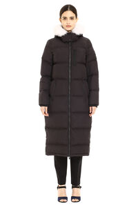 Fox Valley long hooded down jacket, Down Jackets Moose Knuckles woman