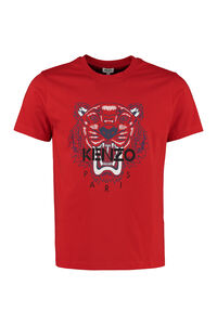 Tiger printed cotton t-shirt, Short sleeve t-shirts Kenzo man