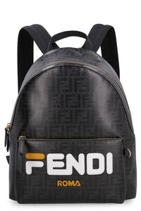 Canvas backpack with printed logo, Backpack Fendi man
