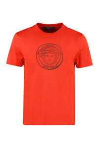 Cotton crew-neck T-shirt, Short sleeve t-shirts Versace man