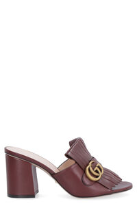 Leather sandal with logo detail, Mules Gucci woman