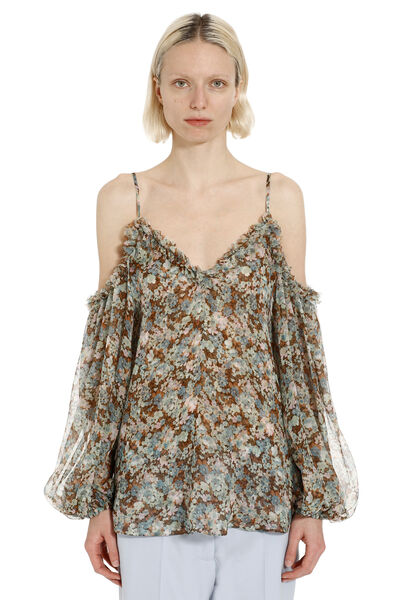 Off-the-shoulders blouse