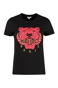 Tiger print cotton T-shirt, T-shirts Kenzo woman