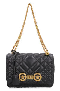 Icon quilted leather shoulder bag, Shoulderbag Versace woman