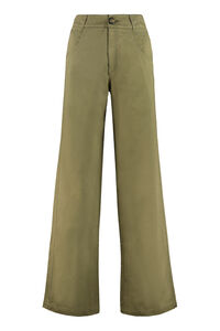Cotton gabardine trousers, Wide leg pants Telfar woman