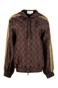 Full zip sweatshirt with side stripes, Zip-up sweatshirts Gucci woman