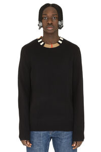 Crew-neck cashmere sweater, Crew necks sweaters Burberry man