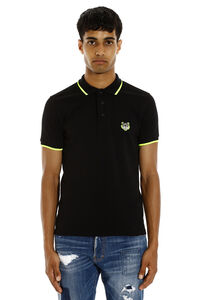 Tiger short-sleeved cotton polo shirt, Short sleeve polo shirts Kenzo man