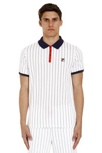 Striped cotton polo shirt, Short sleeve polo shirts Fila man