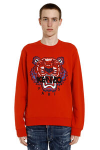 Tiger embroidery cotton sweatshirt, Sweatshirts Kenzo man