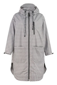 Hooded techno fabric raincoat, Raincoats And Windbreaker Fendi woman
