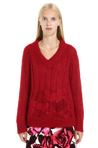 Mohair-wool sweater, V neck sweaters Prada woman