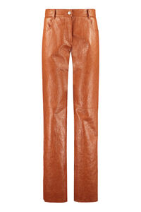Faux leather trousers, Flared pants MSGM woman