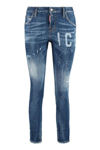Cool Girl worn-out details jeans, Straight Leg Jeans Dsquared2 woman