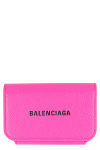 Logoed leather card holder, Wallets Balenciaga woman
