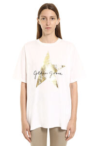 Hoshi printed cotton T-shirt, T-shirts Golden Goose woman
