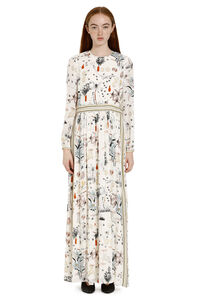 Printed silk long dress, Printed dresses Tory Burch woman