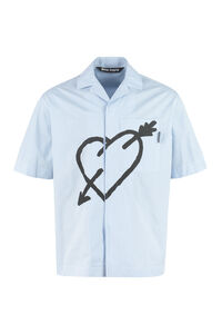 Short sleeve cotton shirt, Short sleeve Shirts Palm Angels man