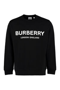 Logo print cotton sweatshirt, Sweatshirts Burberry man