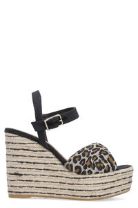Jeanne canvas wedges with crossed bands, Wedges Castaner woman