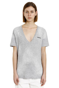 Cotton T-shirt with logo, T-shirts Dsquared2 woman