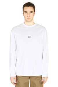 Printed cotton t-shirt, Long sleeve t-shirts MSGM man