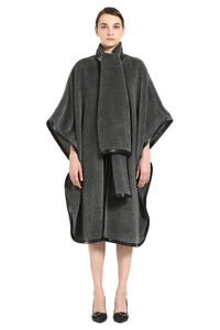 Velour cape coat, Capes Alberta Ferretti woman