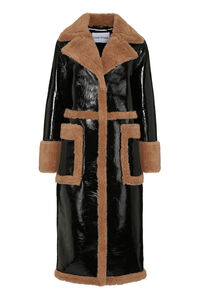 Aubrey patent faux sheepskin coat, Faux Fur and Shearling Stand Studio woman
