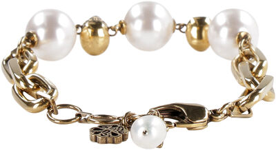 Chain bracelet with pearls