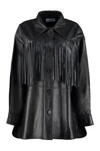 Sabitha leather fringed jacket, Leather Jackets Stand Studio woman