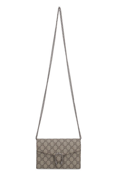 Dionysus GG supreme fabric wallet on chain