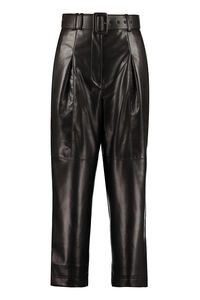 Faux leather culotte-pants, Leather pants Self-Portrait woman