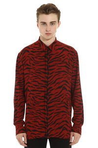 Printed crêpe de chine shirt, Printed Shirts Saint Laurent man