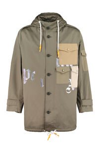 Hooded cotton parka, Parkas Palm Angels man