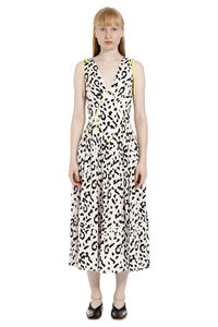 Leopard printed midi dress, Printed dresses Self-Portrait woman