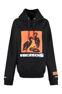 Printed cotton hoodie, Hoodies Heron Preston woman