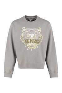 Logo detail cotton sweatshirt, Sweatshirts Kenzo man