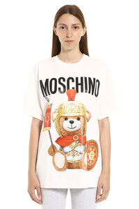 T-shirt in cotone con stampa Roman Teddy, T-shirt Moschino woman