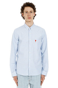 Gingham cotton shirt, Checked Shirts AMI man