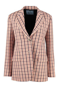 Checked wool blazer, Blazers Prada woman