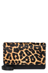 Leather and calf hair clutch, Clutch MICHAEL MICHAEL KORS woman