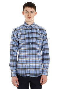 Check pattern cotton shirt, Checked Shirts Burberry man
