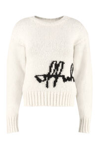 Off-White intarsia crew-neck sweater, Crew neck sweaters Off-White woman
