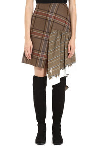 Checked asymmetric skirt, Asymmetric skirts Lanvin woman