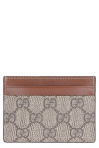 GG supreme and leather card holder, Wallets Gucci woman
