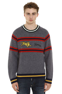 Embroidered crew-neck sweater, Crew necks sweaters Kenzo man