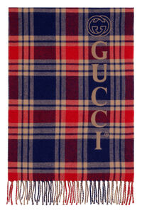 Wool and cashmere reversible scarf, Scarves Gucci man