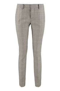 Prince of Wales checked virgin wool trousers, Trousers suits Dsquared2 woman