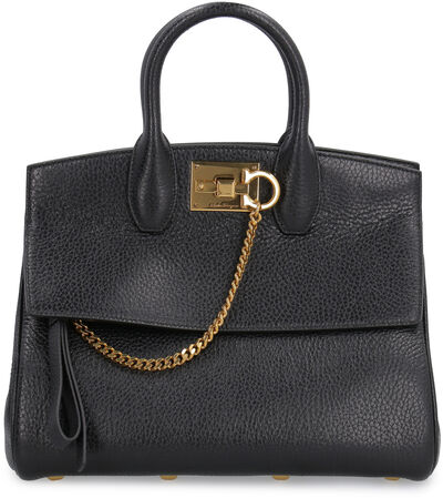 The Studio leather tote
