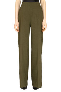 Luigia linen blend wide leg trousers, Wide leg pants Pinko woman
